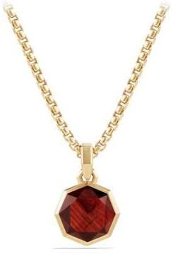 David Yurman Davidyurman Dy Fortune Faceted Amulet With Garnet In 18K Gold