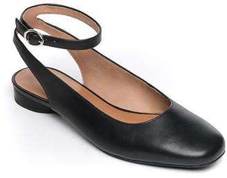 Bernardo Ellie Calf Ankle-Strap Ballet Flats