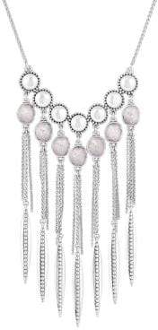 Lucky Brand Nouveau Americana Faux Pearl and Crystal Statement Necklace