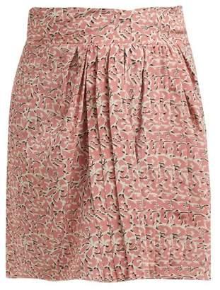 Isabel Marant Hemen Floral Print Mini Skirt - Womens - Pink Multi