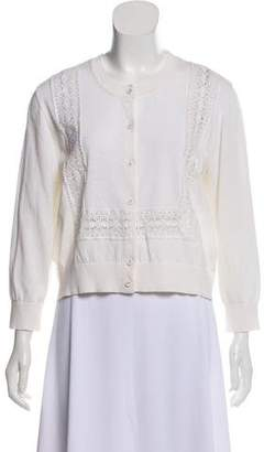 Tory Burch Embroidered Knit Cardigan w/ Tags