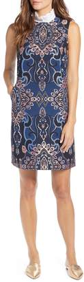 Halogen Brocade Shift Dress