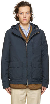 Woolrich John Rich and Bros Blue Utility Rudder Jacket