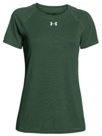 Under Armour Women's Performance Stripe Tech Locker Tee T-Shirt (Green M)