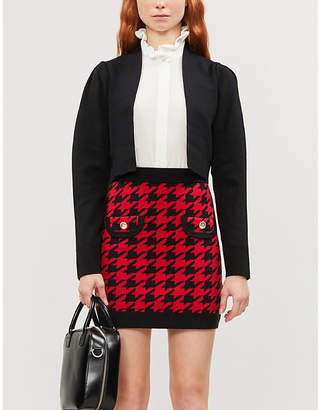 Claudie Pierlot Mamaille houndstooth cotton-blend mini skirt