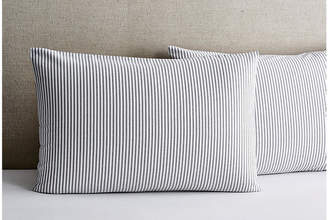 Matteo Set of 2 Black Tick Shams - White