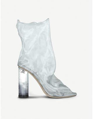 Nicholas Kirkwood Darcy Plexi organza ankle boots
