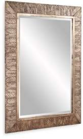 """Howard Elliott Elrond Silver Leaf Mirror, 45"""" x 33"""""""