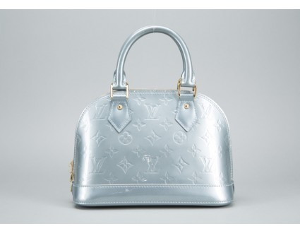 Louis Vuitton pristine (PR Givre Light Blue Vernis Alma BB Handbag