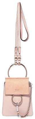 Chloé Faye Bracelet Leather And Suede Shoulder Bag - Beige