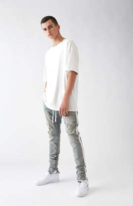 PacSun Drop Skinny Side Stripe Denim Jogger Pants