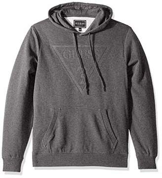 GUESS Men's Long Sleeve Roy Pop Over Logo Hoodie