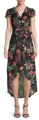 Julia Jordan Floral Hi-Lo Wrap Dress
