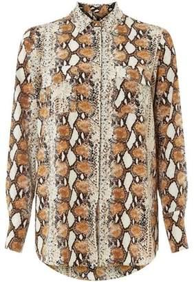 Dorothy Perkins Womens Multi Coloured Snake Print Longline Shirt