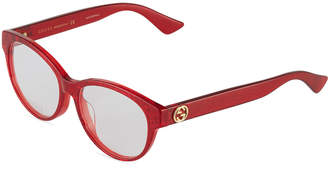 Gucci Round Glittery Acetate Optical Glasses