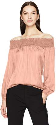 BCBGMAXAZRIA Women's Milou Woven Off The Shoulder Top