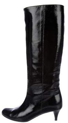 Cynthia Vincent Patent Leather Knee-High Boots
