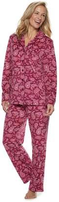Croft & Barrow Petite Velour Shirt & Pants Pajama Set