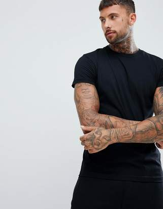 Pull&Bear Organic Cotton T-shirt In Black