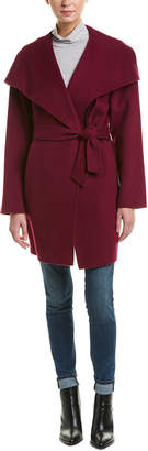Trina Turk Ines Wrap Wool-Blend Coat