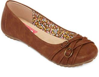POP Womens Nelly Ballet Flats Slip-on Closed Toe
