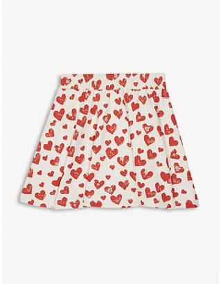 Molo Barbera heart print cotton skirt 3-12 years