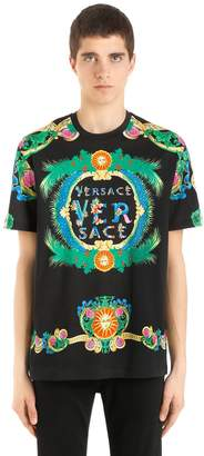 Versace Slim Fit Archive Printed Jersey T-Shirt