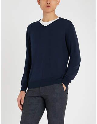 Canali V-neck cotton jumper