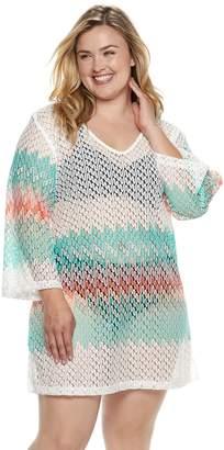 Apt. 9 Plus Size Heat Wave Crochet Cover-Up
