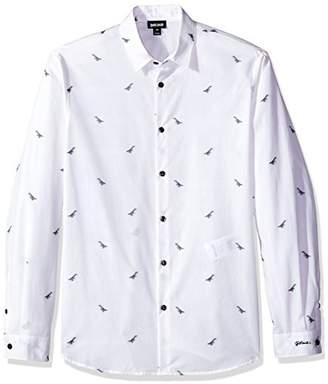 Just Cavalli Mens Slim Fit Button Down Shirt