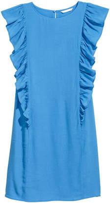 H&M Ruffled Dress - Blue