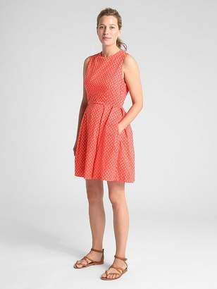 Gap Sleeveless Print Fit and Flare Dress