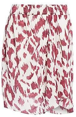 Etoile Isabel Marant Women's Yegart Abstract Print Silk Mini Skirt