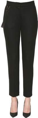 Max Mara Piume Straight Leg Wool Jersey Pants