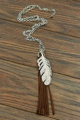 Jchronicles Feather Tassel Necklace