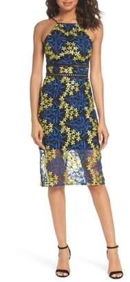 Sam Edelman Embroidered Lace Pencil Dress