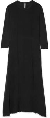 Raquel Allegra Cotton-gauze And Jersey Maxi Dress - Black