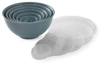 Williams-Sonoma Williams Sonoma Melamine Mixing Bowls with Lids, Set of 6, Steel Blue