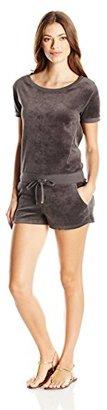 Juicy Couture Black Label Women's Logo Velour Marrakech Cameo Romper $77.87 thestylecure.com