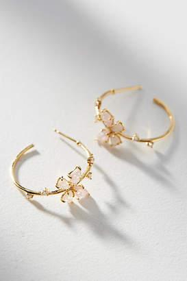 Anthropologie Floating Butterfly Hoop Earrings
