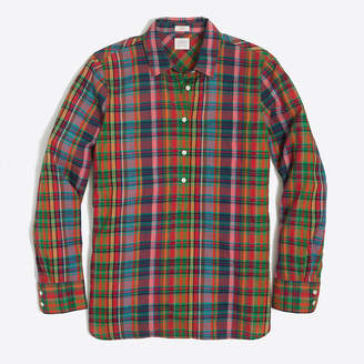 J.Crew Factory Plaid gauze shirt in boy fit
