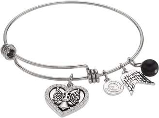 Angel Heart Love This Life love this life Crystal Charm Bangle Bracelet
