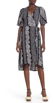 Laundry by Shelli Segal Paisley Kimono Sleeve Wrap Dress