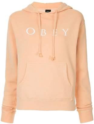 Obey logo print hoodie