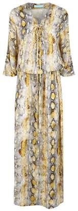 Melissa Odabash Karly Snakeskin Print Maxi Dress