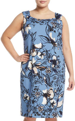 Kasper Plus Scribbled Floral Sheath Dress, Plus Size
