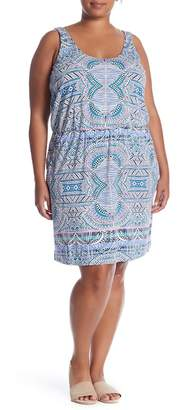 Tart Sleeveless Printed Dress (Plus Size)