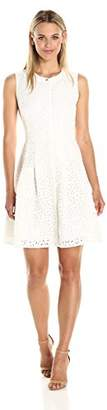 Rachel Roy Women's Laser Cut Fit and Flare