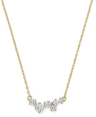 Adina 14K Yellow Gold Scattered Diamond Necklace, 15""