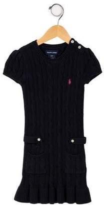 Ralph Lauren Girls' Cable Knit Dress